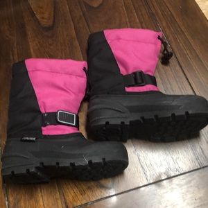 TUNDRA Pink Snow Boots Girls Size 1